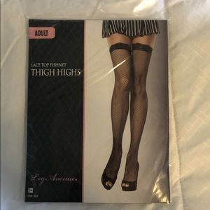 Fishnet Thigh Highs